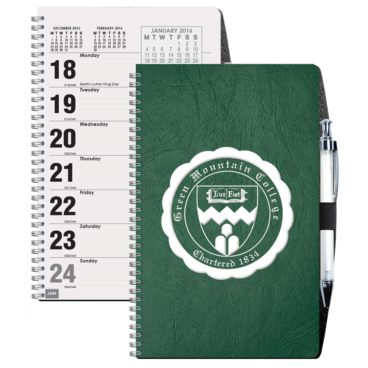 Flex Weekly Planner w/ Pen Safe Back Cover & Pen