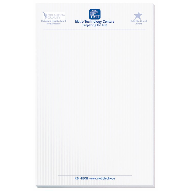 Sheet scratch pad w chipboard back ″x