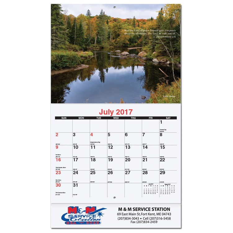 X  Bible Verses Monthly Wall Calendars W Stapled