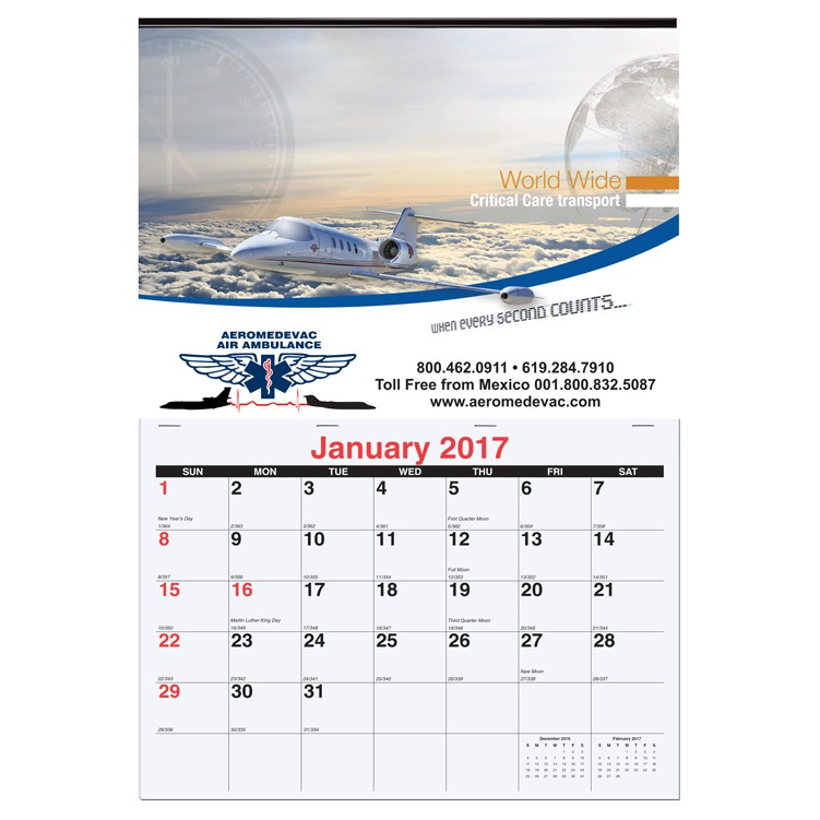 "12""x17 3/8"" Monthly Wall Calendars"