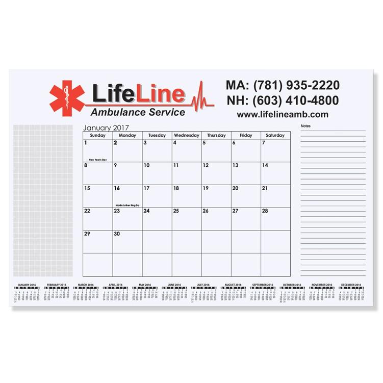 """16 3/4""""x10 7/8"""" Small Calendar Desk Pads"""