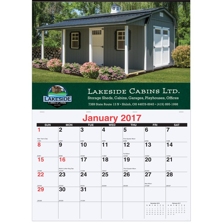 "17""x24"" Monthly Wall Calendars - 1 Photo"