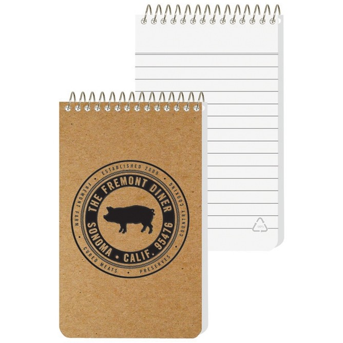 "2 7/8""x4 3/4"" Recycled Pocket Coil Notebook"