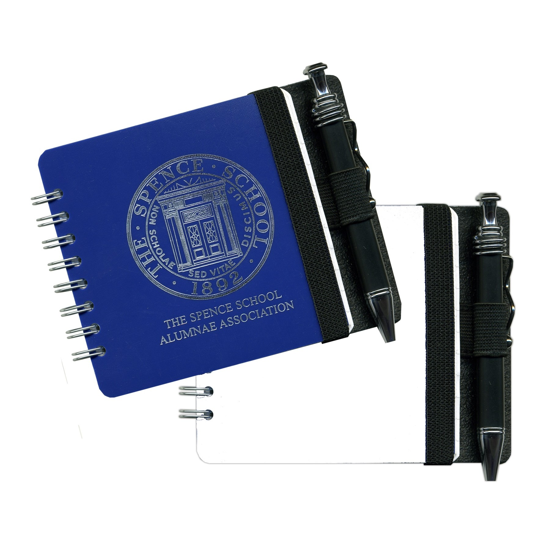 """3 11/16"""" Square Poly Journals w/ Pen & Safe Back Cover"""