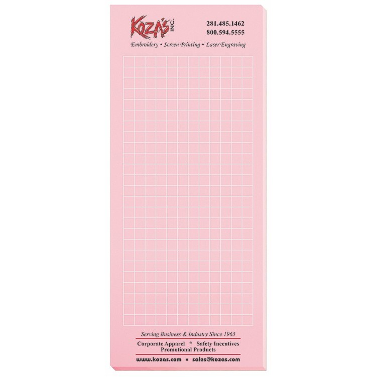 "3 1/2""x8 3/8"" Pastel Colors Scratch Pads w/ 50 Sheets"