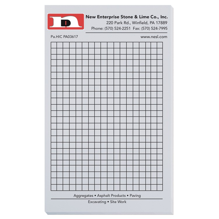 "4 1/8""x6 3/4"" Pastel Colors Scratch Pads w/ 100 Sheets"