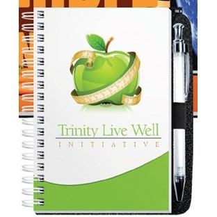 """4""""x6"""" Gloss Cover Journals w/ 100 Sheets & Pen"""