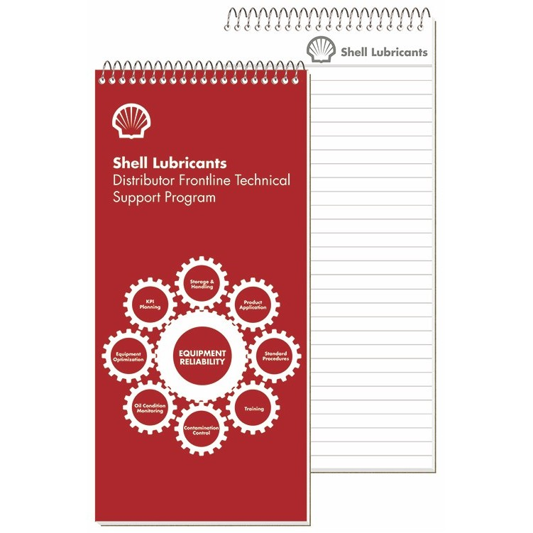 "4""x8 1/4"" Imprinted Sheet Notebooks - 1 Standard Color"
