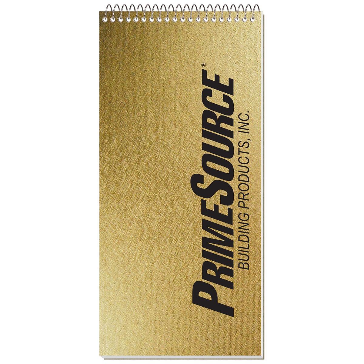 """4""""x8 1/4"""" Metallic Reporter Notebook"""