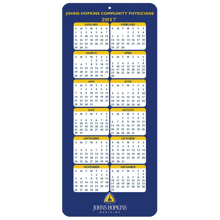 "4""x9"" Year at a Glance Calendar Cards"