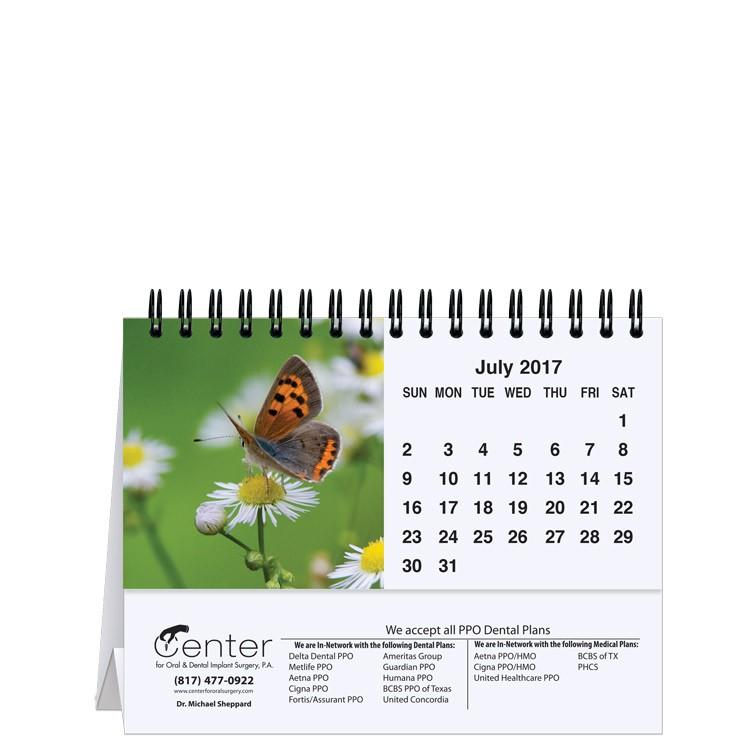 "5 13/16""x4 1/2"" Fauna Tent Desk Calendar"