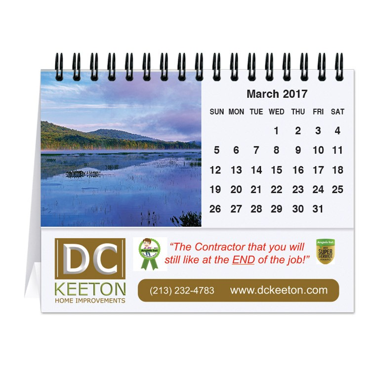 "5 13/16""x4 1/2"" Majestic Outdoors Tent Desk Calendar"