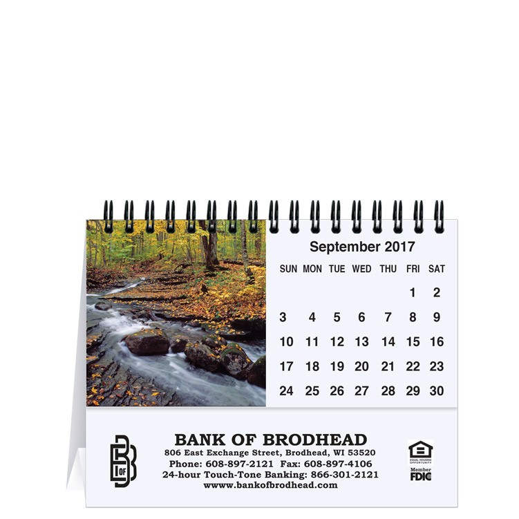 "5 13/16""x4 1/2"" Waterways Water Tent Desk Calendar"