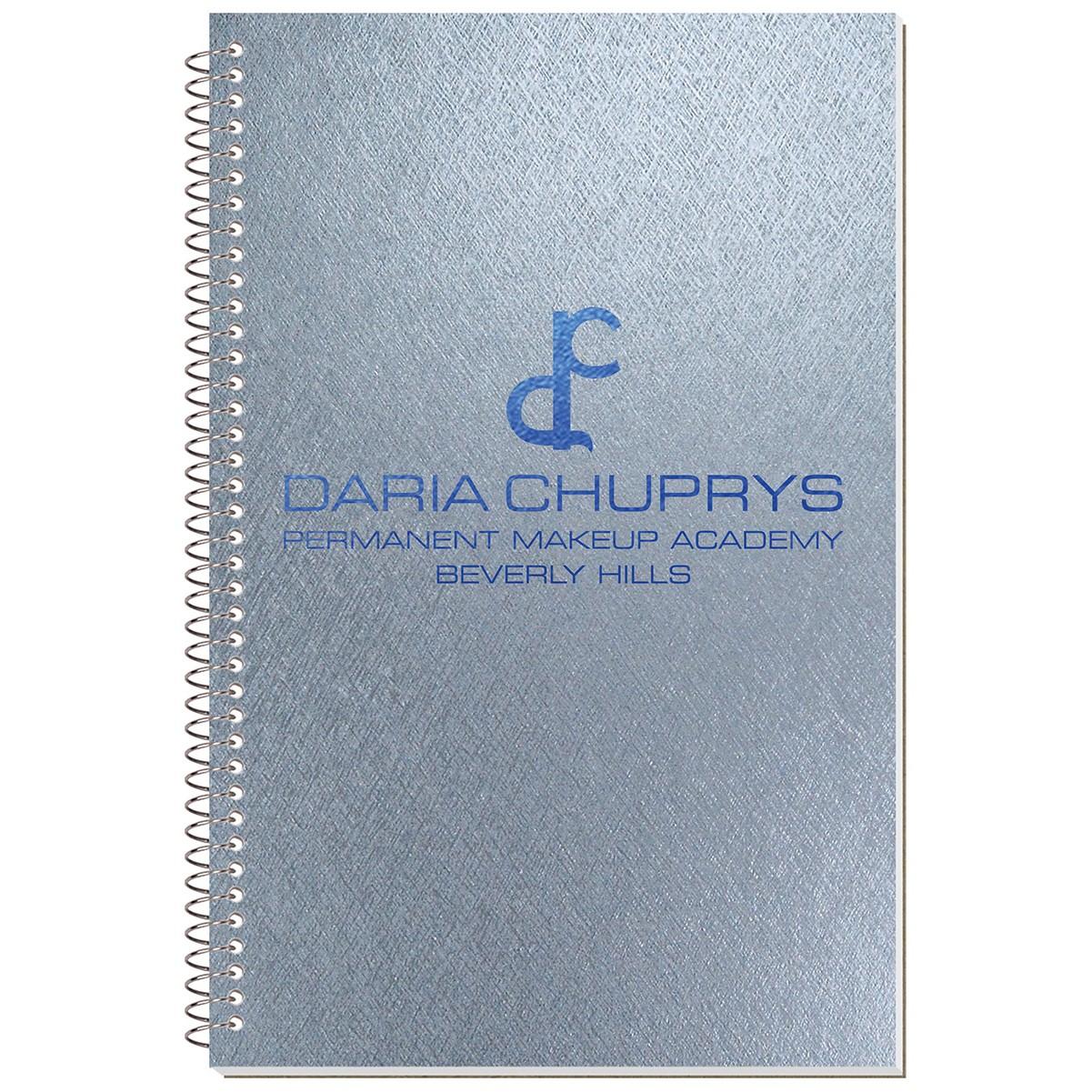 "5 3/8""x8 1/4"" Metallic Stenographer Notebook"
