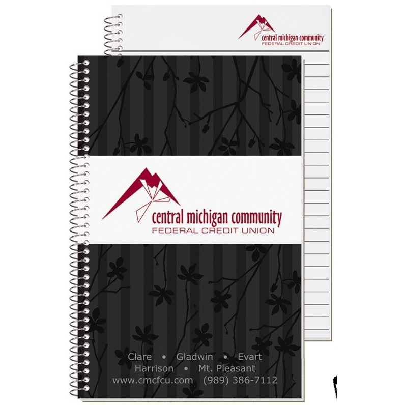 "5 3/8""x8 1/4"" Stenographer Notebook - 4 Color Process"
