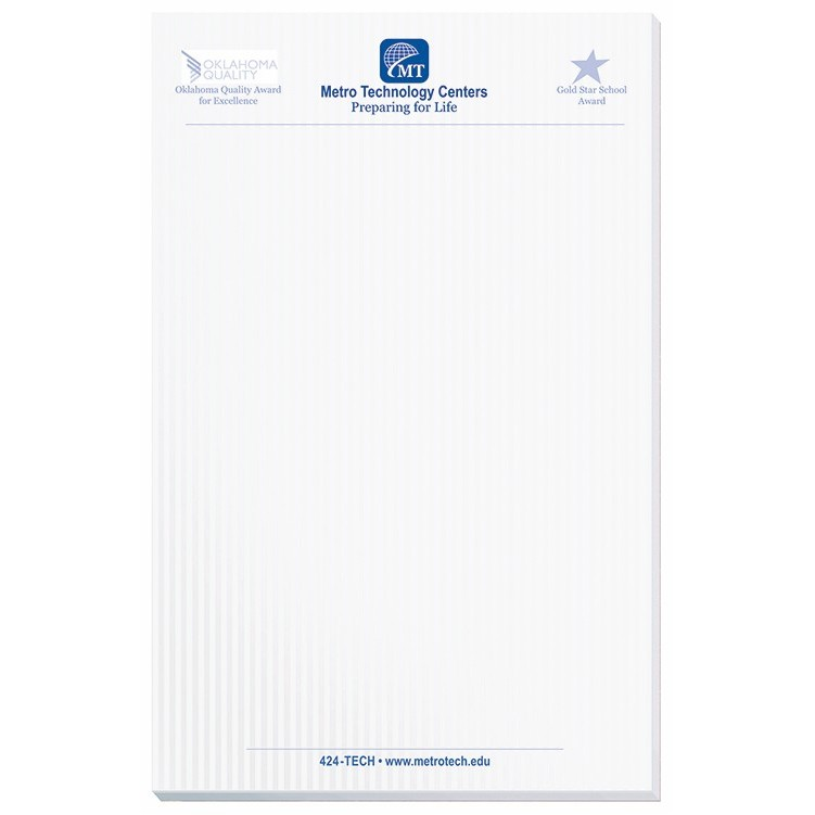 5 3/8″x8 3/8″ Scratch Pad w/ 100 Sheets | Drum-line Branded