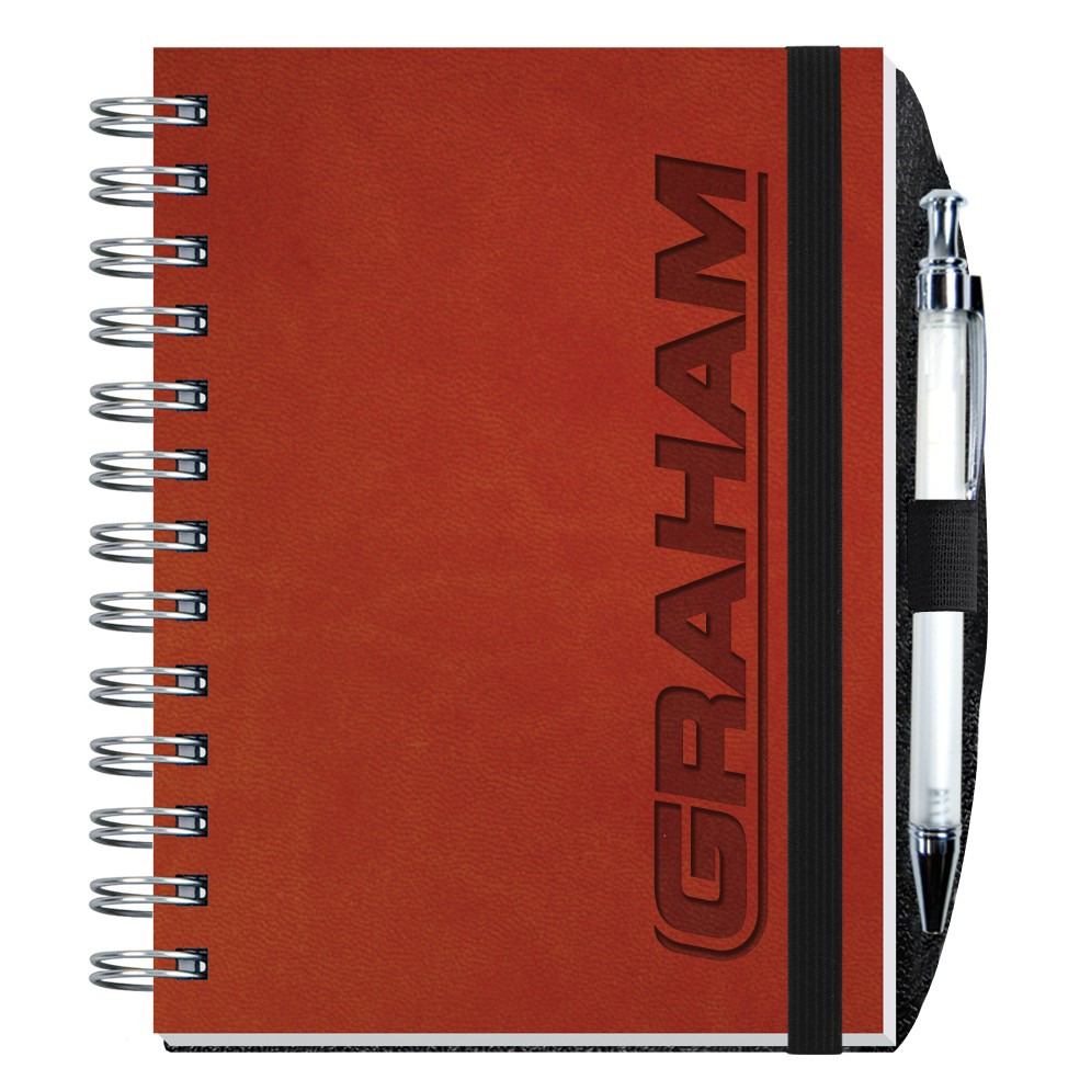 5″x7″ Executive Journals – 100 Sheets w/ Pen | Drum-line Branded