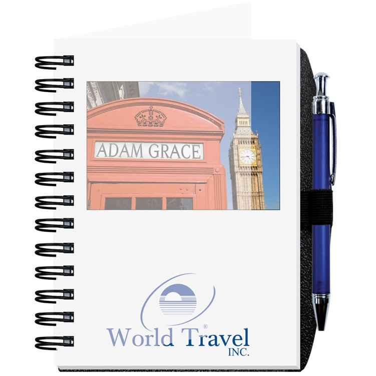 "5""x7"" Personalized Image Journals w/ 100 Sheets & Pen"