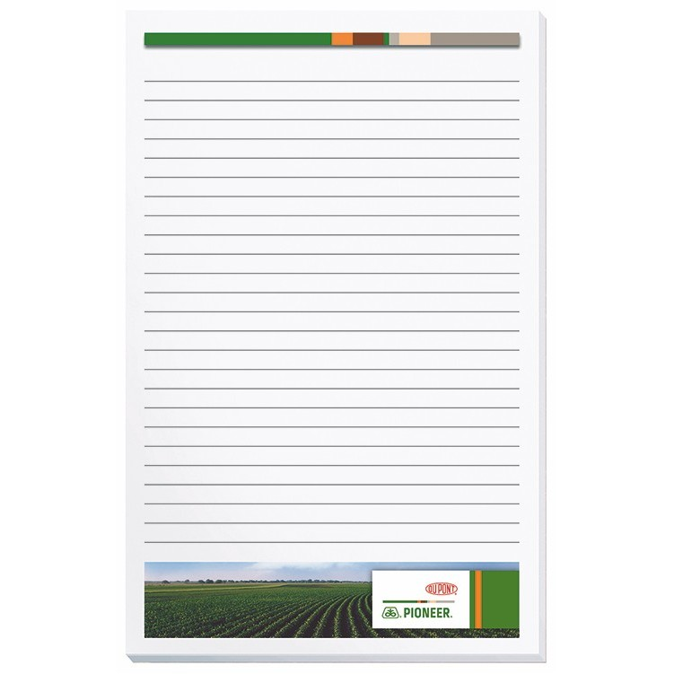 "5""x8"" Premium Full Color Scratch Pads w/ 100 Sheets"