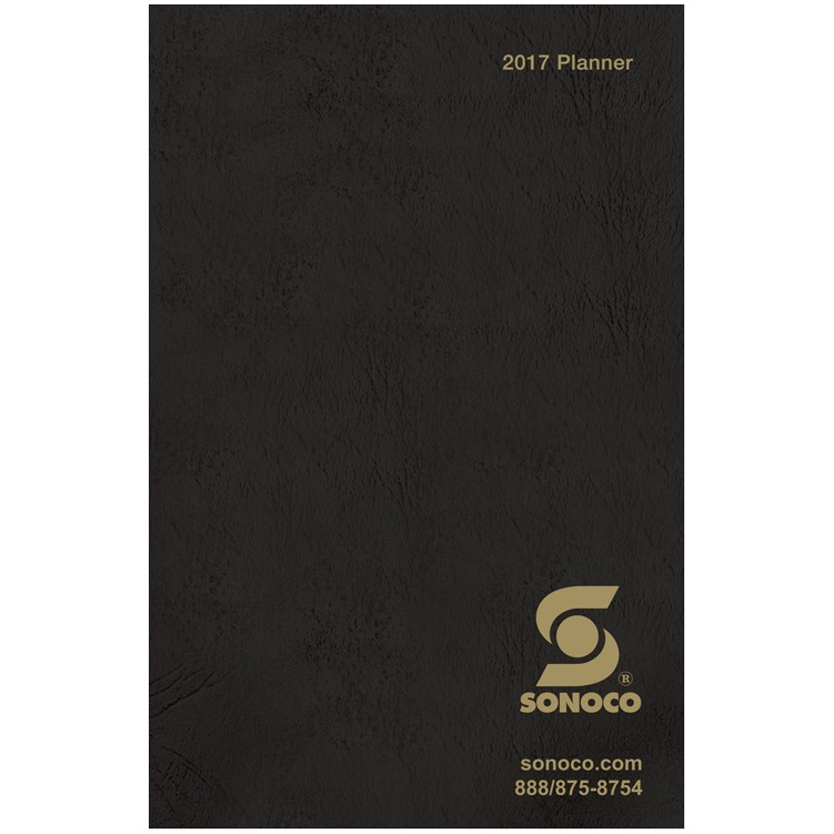 "6 1/2""x10"" Leatherette Cover Monthly Pocket Planner"