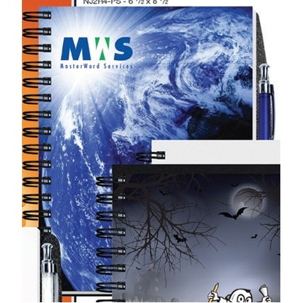 "6 1/2""x8 1/2"" Gloss Cover Journals w/ 50 Sheets & Pen"