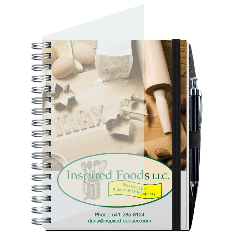 "6 1/2""x8 1/2"" Personalized Image Journals w/ 100 Sheets & Pen"