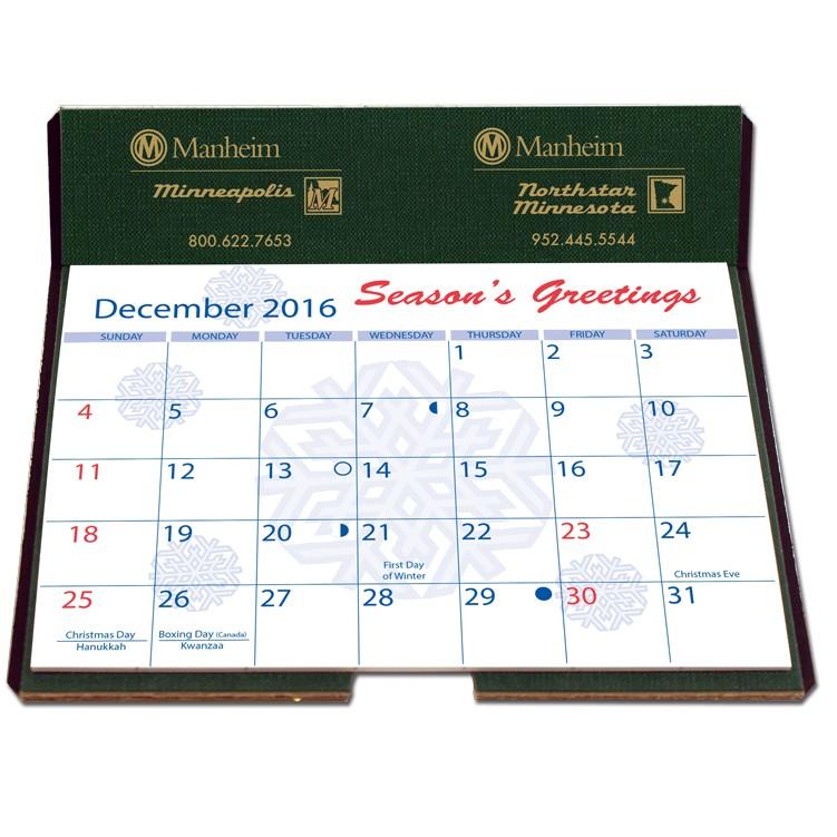 """6 1/4""""x6 3/8"""" Foil Stamped Easel Back Calendars"""