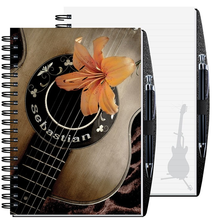 "7""x10"" Personalized Image Journals w/ Pen Safe"