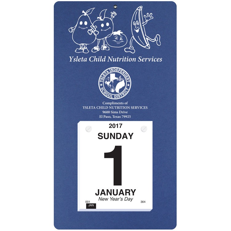 "7""x13"" Foil Stamped Daily Calendars"