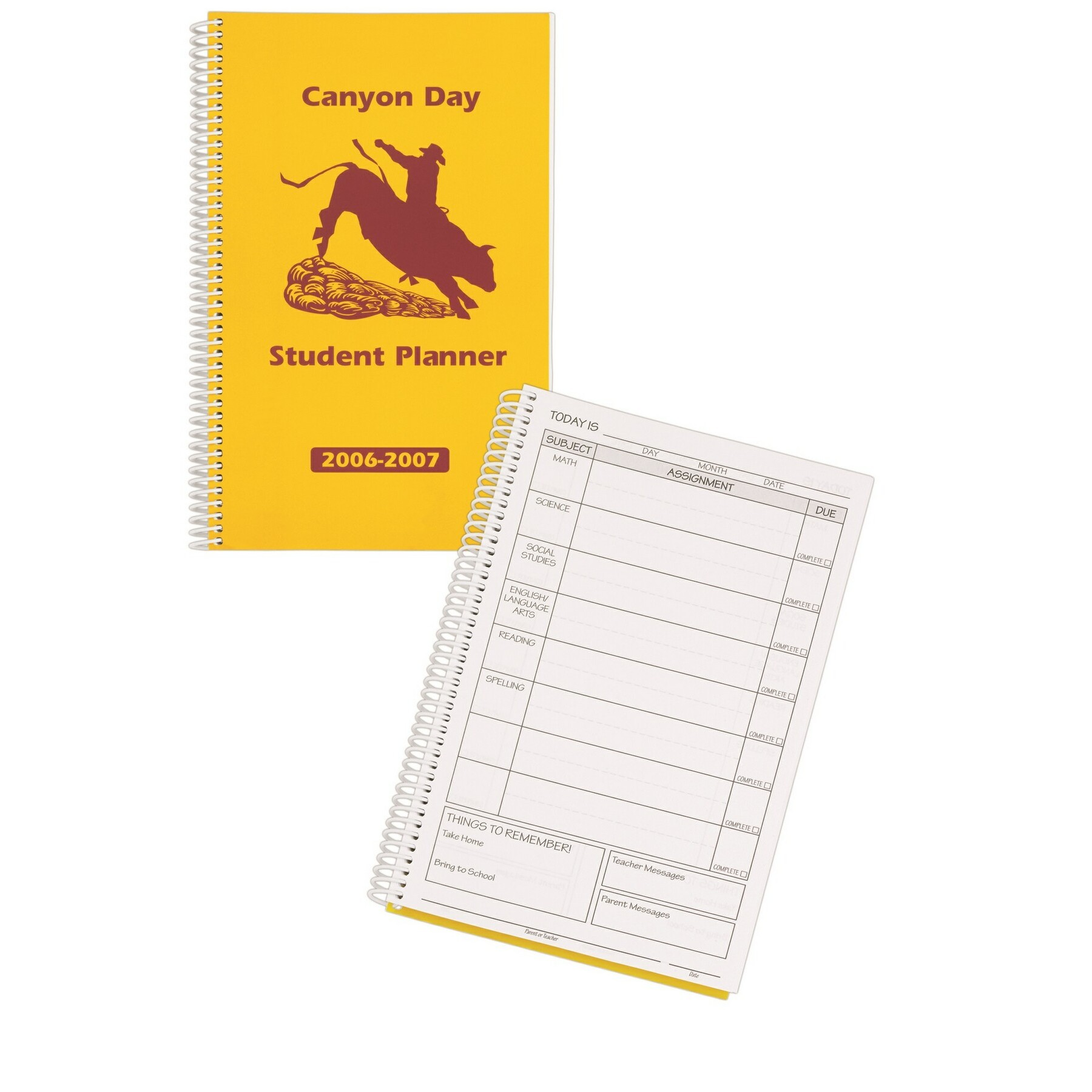 Daily Assignment Planner Book