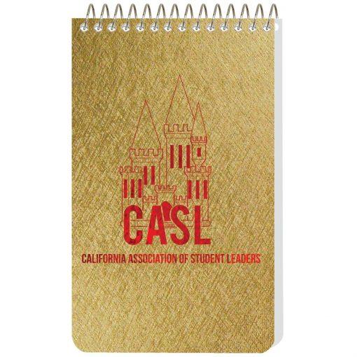 Metallic Pocket Coil Notebook