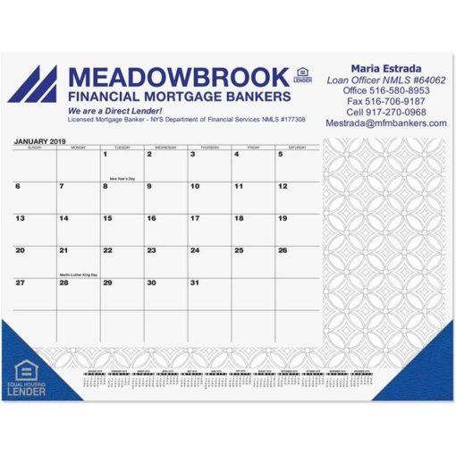 """21 3/4""""x17"""" Adult Coloring Desk Pad Calendars"""