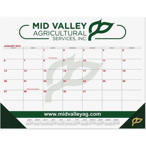"21 3/4""x17"" Red & Black Calendar Desk Pads"