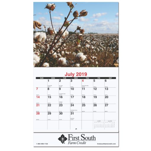 "10 5/8""x18 1/4"" Agriculture Monthly Wall Calendars w/ Stapled"