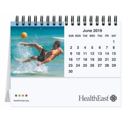 """5 13/16"""" x 4 1/2"""" Active Lifestyle Tent Desk Calendar"""