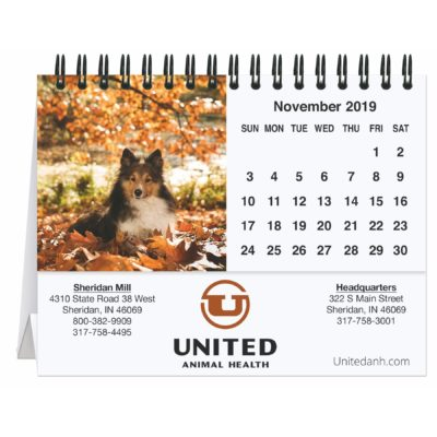 "5 13/16"" x 4 1/2"" Furever Friends Tent Desk Calendar"