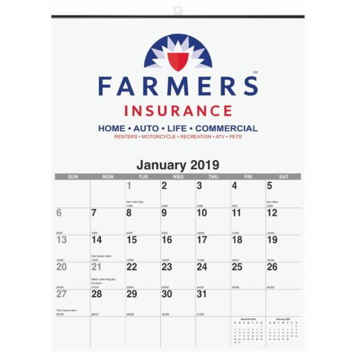 "18""x25"" Monthly Wall Calendars - 1 Image"