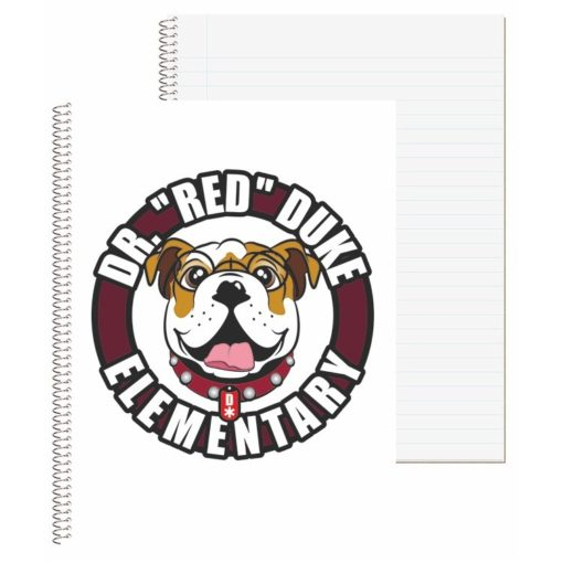 "8 1/2""x10 1/2"" Wide Ruled Econo Composition Notebook - 4 Color Process"