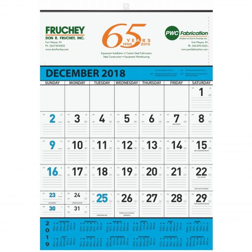 """18""""x25"""" Monthly Wall Calendars - 1 Image"""