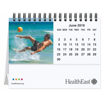"5 13/16"" x 4 1/2"" Active Lifestyle Tent Desk Calendar"