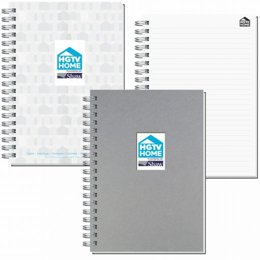 """7""""x10"""" Shadowbox Smooth Paperboard Journals w/ 50 Sheets"""