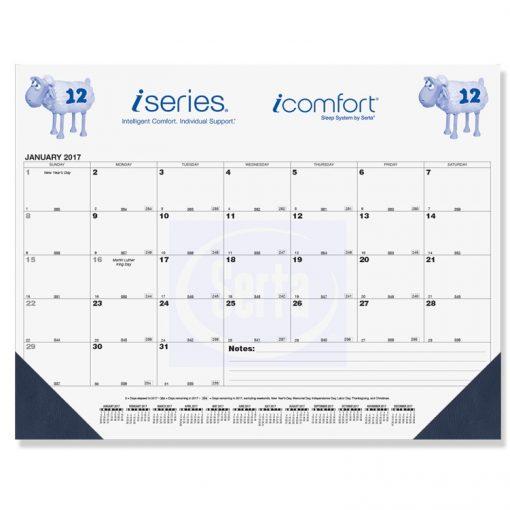 "Black Calendar Desk Pads w/One Color Imprint (21 3/4""x17"")"