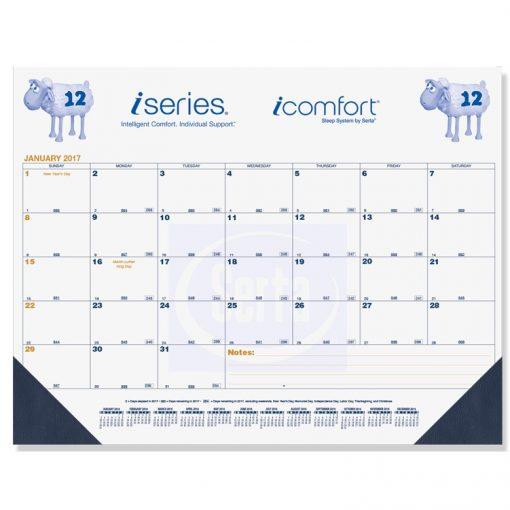 """Blue & Gold Calendar Desk Pads w/One Color Imprint (21 3/4""""x17"""")"""