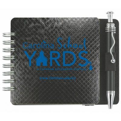 "Classic Square Journals w/50 Sheets & Pen (3 11/16"")"