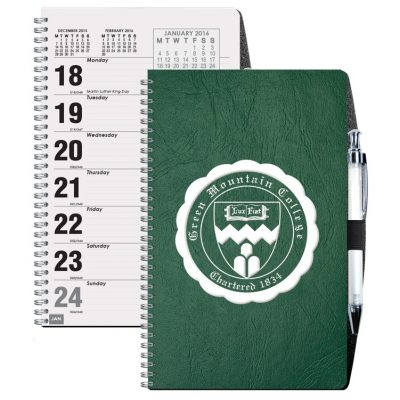 Flex Weekly Planner w/Pen Safe Back Cover & Pen