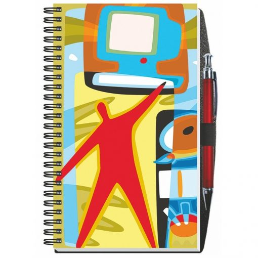"""Gloss Cover Journals w/50 Sheets & Pen (5 1/4""""x8 1/4"""")"""