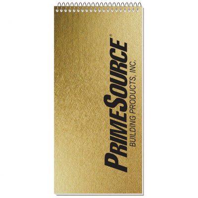 """Metallic Reporter Notebook (4""""x8 1/4"""")"""