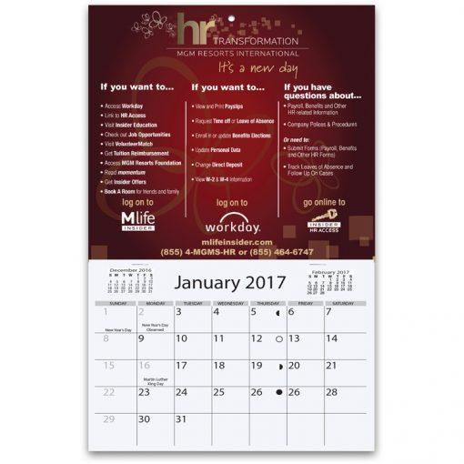 """Mini Wall Calendars w/1 Custom Photo/Imprint (6""""x9 7/8"""")"""