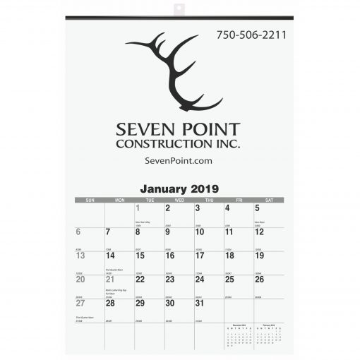 "Monthly Wall Calendars w/1 Image & 1 Color Imprint (12 1/4""x18 1/2)"