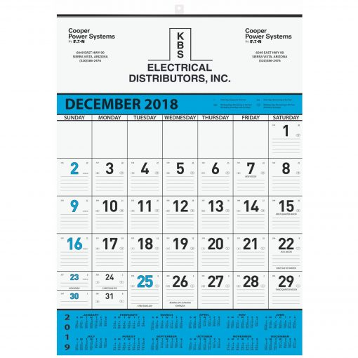 "Monthly Wall Calendars w/1 Image & 1 Color Imprint (18""x25"")"